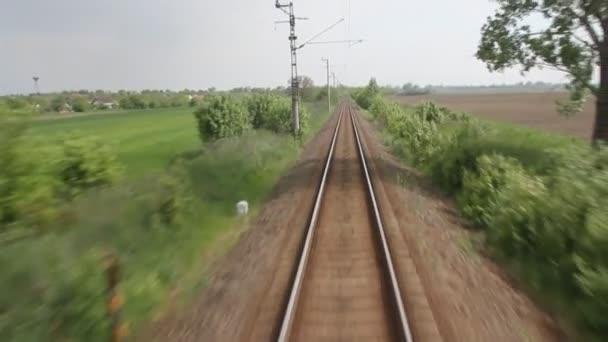 Single-line railroad — Vídeo de stock
