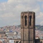Belltower. Santa-Maria-del-Pi cathedral, Barcelona, Spain — Stock Photo #50165731