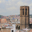 City and belltower. Barcelona, Spain — Stock Photo #50165785
