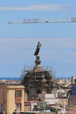 Dome in construction woods, basilica of Mother of God. Barcelona, Spain — Zdjęcie stockowe