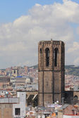 Belltower. Santa-Maria-del-Pi cathedral, Barcelona, Spain — ストック写真