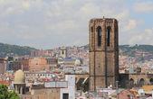 City and belltower. Barcelona, Spain — Stock Photo