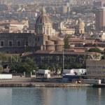 Port, cathedral and city. Catania, Sicily, Italy — Stock Photo #50953319