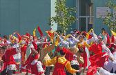 Performance de danse collectifs de folklore. karavon-2014, tatarstan — Foto de Stock