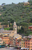 Pyazzet Square and St Martin's Church. Portofino, Italy — Stockfoto