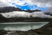 Tasman glacier lake view in New Zealand — Stock Photo