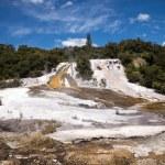 Orakei Korako geothermal park in New Zealand — Stock Photo