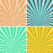 Grunge sunburst background — Stock Vector