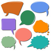 Colorful communication bubbles — Stock Vector
