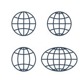 Globe earth world icons — Stock Vector