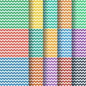 Chevron seamless pattern collection — Stock Vector