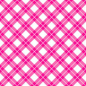 Pink gingham seamless pattern — Stock Vector