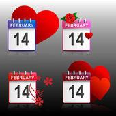 Set calendars Valentines — Stock Vector