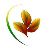 Leaves logo vector — Stock Vector