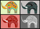 Ange prydnads elefanter — Stockvektor