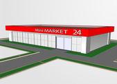 Mini market shop — Stock Vector