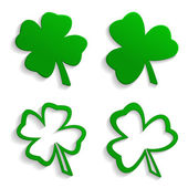 Set of icons clover — Stock Vector