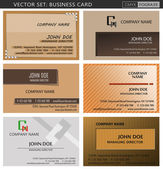 Business card SET-1 — Stock Vector