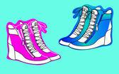 Hidden wedge sneakers — Stock Vector