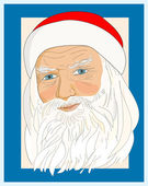 Portrait of Santa Claus — Stock Vector