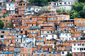 Favela, Brazilian slum in Rio de Janeiro — Stock Photo