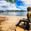 Постер, плакат: Statue of Brigitte Bardot in Buzios harbour