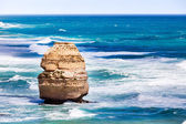 Great Ocean Road and one stone pillar — Stock Photo