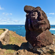 Short standing moai at shore in Easter Island — Stock Photo #39597099