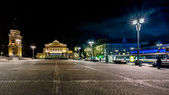 City square at night in Tampere, Finland — ストック写真