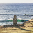Stock Photo: Lonely Moai by sein Easter Island