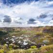 Stock Photo: Old crater in Easter Island