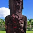 Two bird carvings on the back of an moai in Easter Island — Stock Photo #39714891