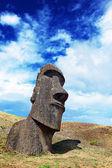 Lone Moai in Osterinseln — Stockfoto