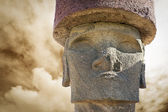 Head of moai in Easter Island — Stock Photo