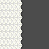 Geometric pattern, gray background. — Stock Vector