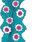 Blomma träd sömlös inredning. — Stockvektor