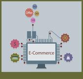E-commerce — Vector de stock