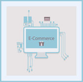 E-commerce — Stock Vector