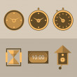 Icons for clocks — Stock Photo