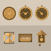 Icons for clocks — Stock Vector