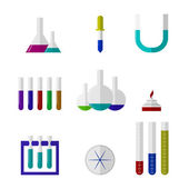 Illustration of chemistry labware — Stock Vector