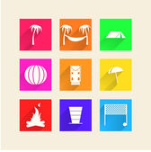 Icons for camping — Stock Vector