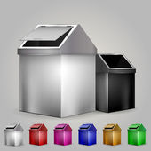 Illustration of dustbins — Stock Vector