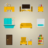 иконки для квартиры — Cтоковый вектор