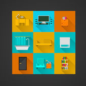 Icons for apartment — Stock Vector