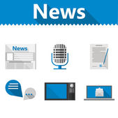 Flat icons for news — Stockvector