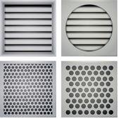 Illustration of ventilation shutters — Stock Vector