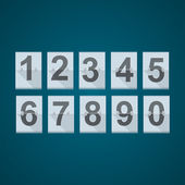 Set di numeri per tabellone meccanico. — Vettoriale Stock
