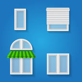 Icons for windows — Vettoriale Stock