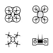 Vector icons for quadrocopter — Stockvector